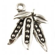 Pea Pods 3D Sterling Silver Charm